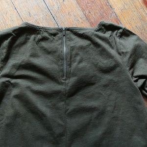 Madewell Tops - Madewell olive green swing shirt